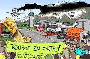 Tousse en Piste ! Vélorution et carnaval des alternatives devant l'aéroport de Chambéry